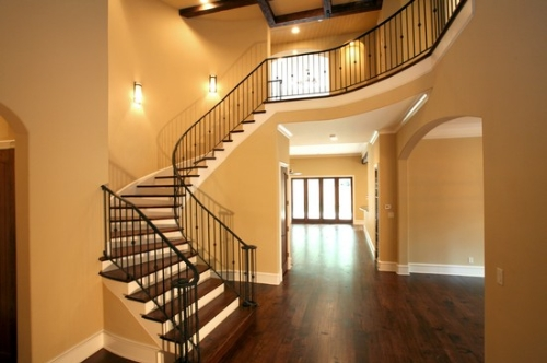 Entryway in Dallas custom home