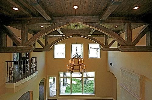 Living Room ceiling beams