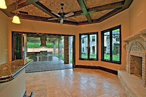 Party room and patio
